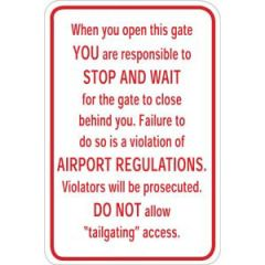 Please Make Sure the Gate Closes Sign