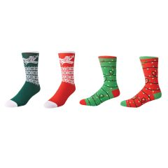 Bundle Aviation Themed Christmas Socks - Set of 4 (Both Designs in Both Colors)