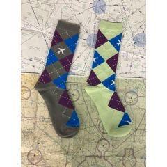 Argyle Aviator Socks Bundle