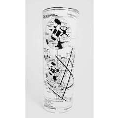 Custom Airport Diagram 20oz. Tumbler