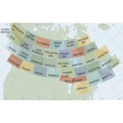 Complete set of 35 Canadian VFR Navigation Charts