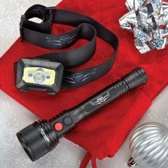 Flight Gear Flashlight and Headlamp Bundle