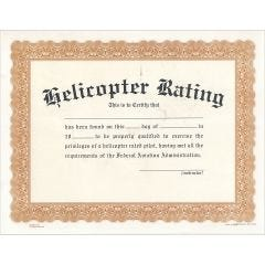 Helicopter Rating Certificate