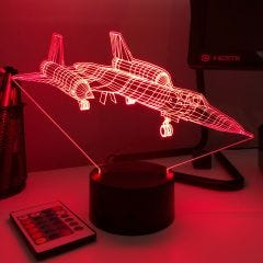 SR71 Blackbird 3D Aircraft Color Changing Lamps