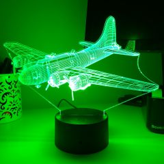 B-17 Flying Fortress 3D Aircraft Color Changing Lamps