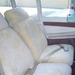 Sheepskin Headrest Cover