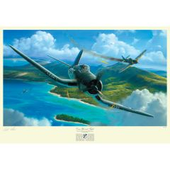 "Pappy Boyington ""Come Up and Fight"" Artist Signed Print"
