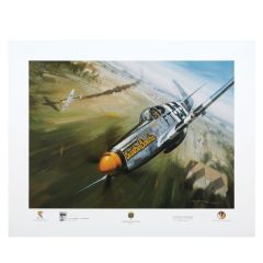 Showdown Over Berriere Print Signed by Kenneth Dahlberg