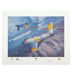 """There Went Number 10 Print Signed by """"Boots"""" Blesse"""
