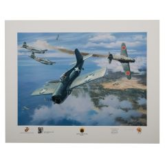 First Marine Ace Print Signed by Marion Eugene Carl