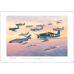 A Salute to Navy And Marine Corps Fighter Aces Print