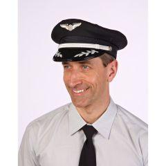Silver Airline Captain's Cap