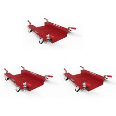 Set of Three Red Viper Airplane Positioners