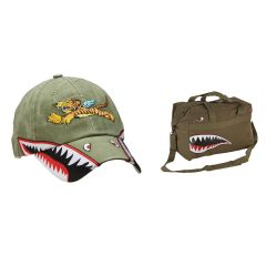 Flying Tigers Cap and Duffle Bag