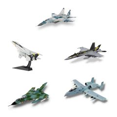 Complete Set of Fighter Jet Die-Cast Models (10)