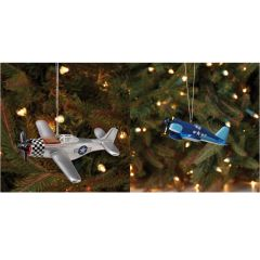 Set of Warbird Ornaments