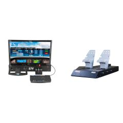 Redbird Jay Flight Simulator and RD1 Rudder Pedals Combo