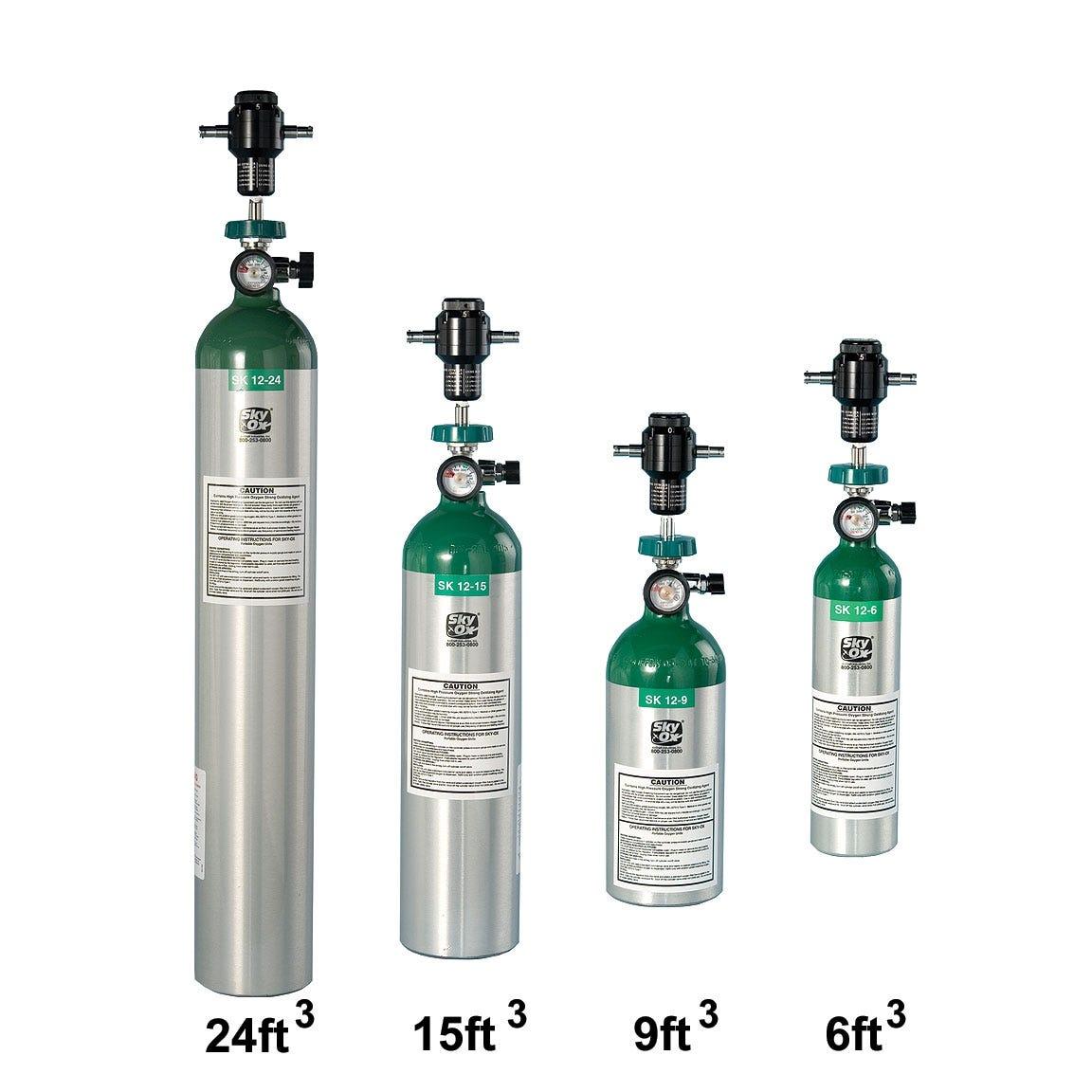 Oxygen tank sizes