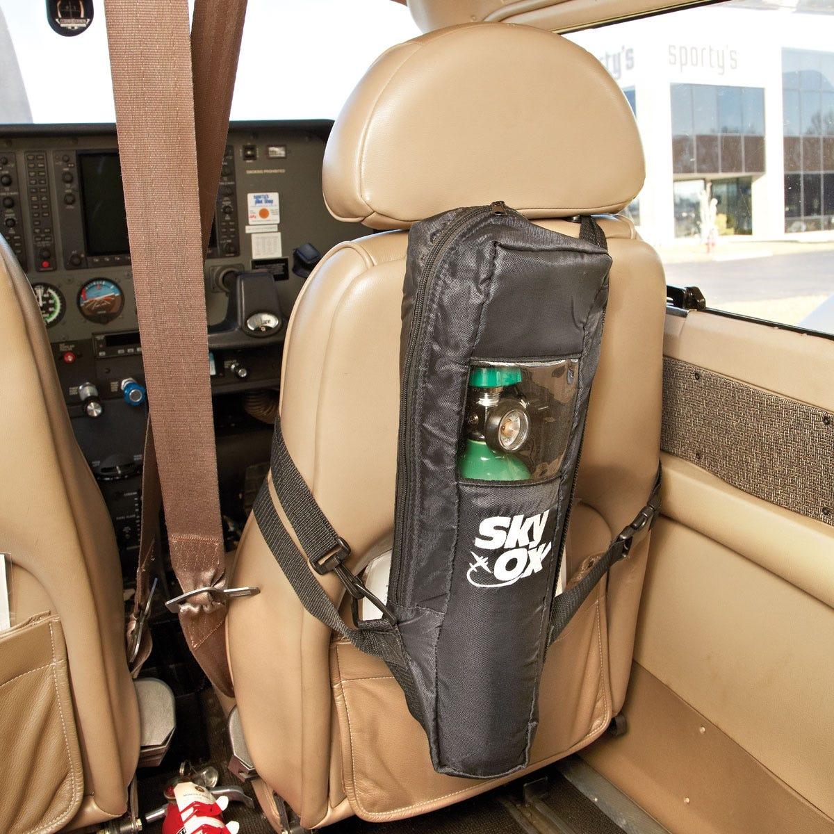 Oxygen tank on seatback
