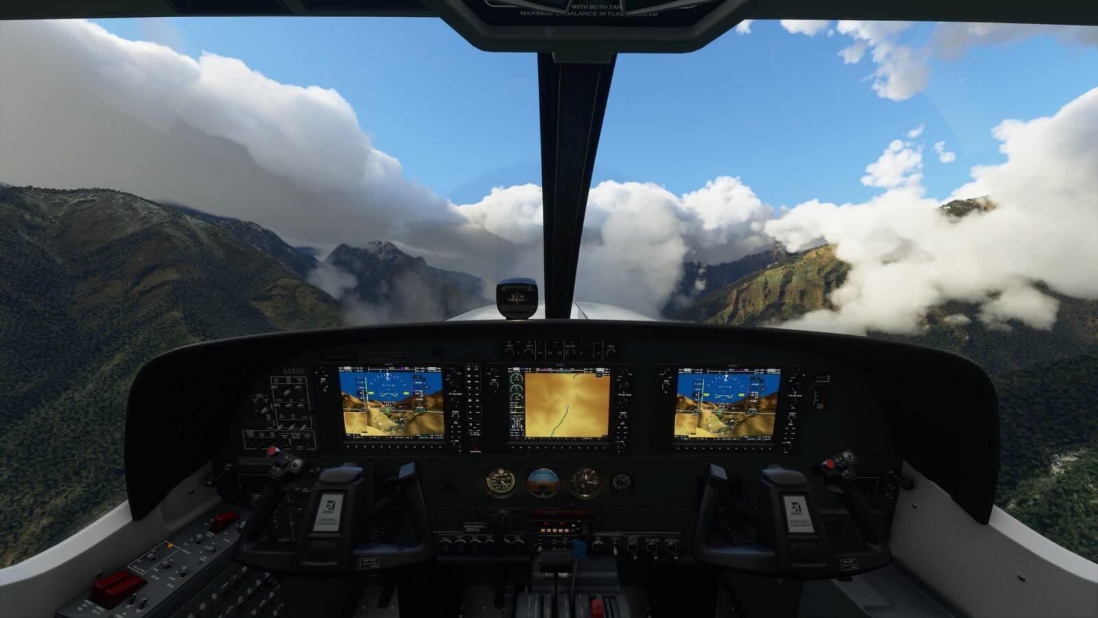 Microsoft Flight Simulator 2020 cockpit scene