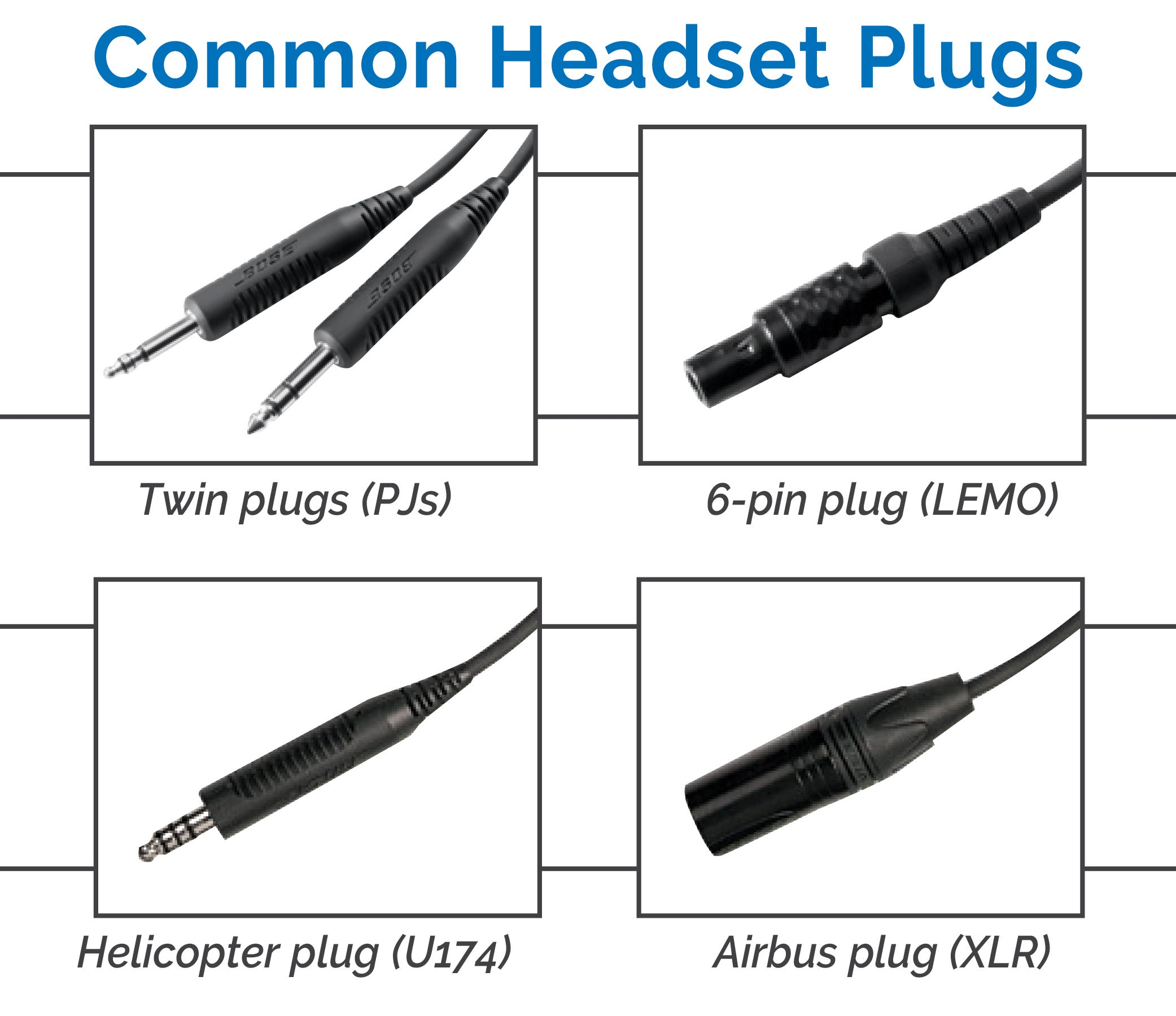 Headset cable options