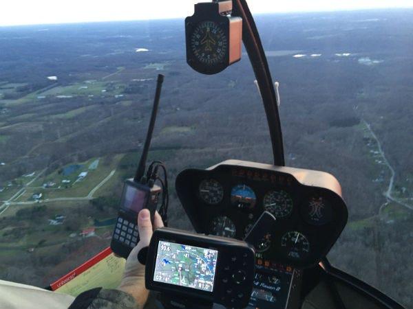 Radio test in flight
