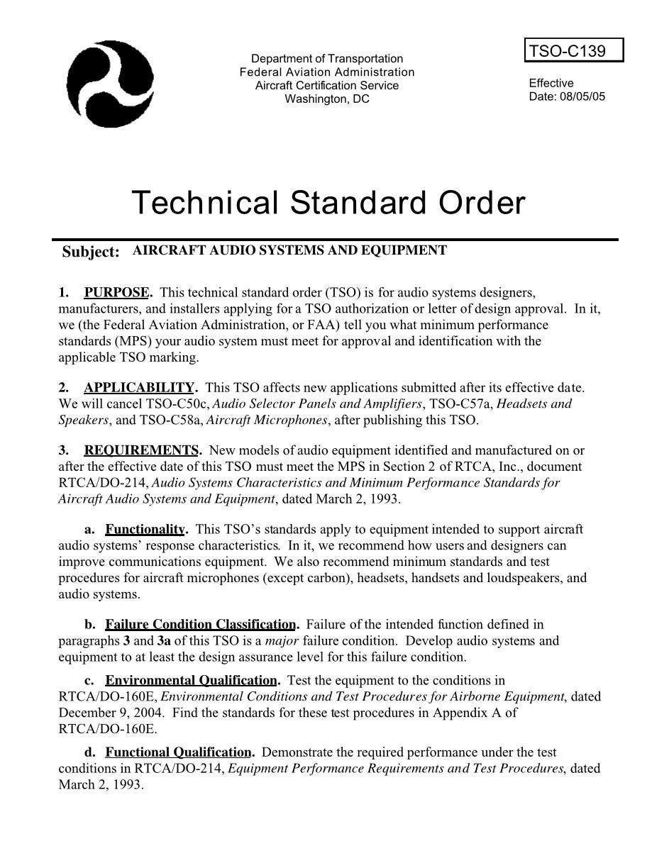 FAA TSO C139