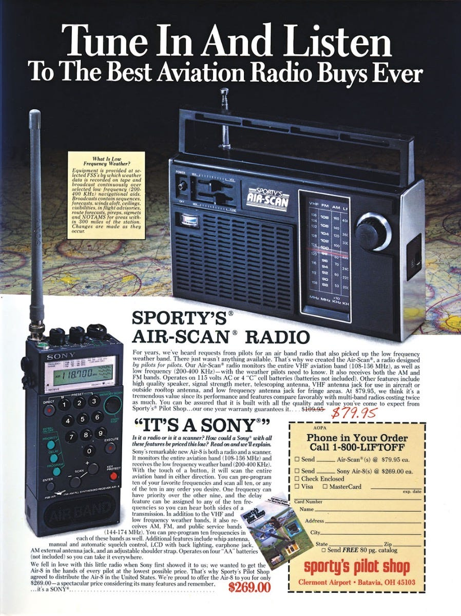 Sony Air-8 and Sporty's Air-Scan