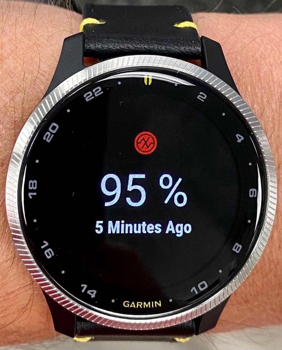 D2 Air pulse oximeter screen