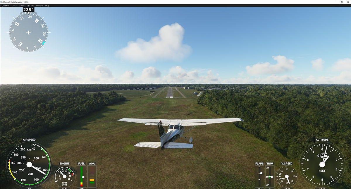 Final approach flight simulator