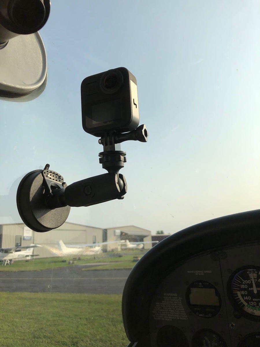 GoPro MAX in Cessna window