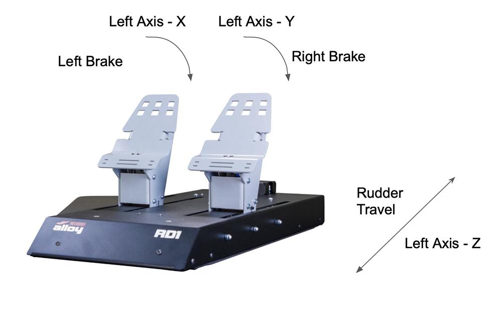 Redbird RD1 pedals