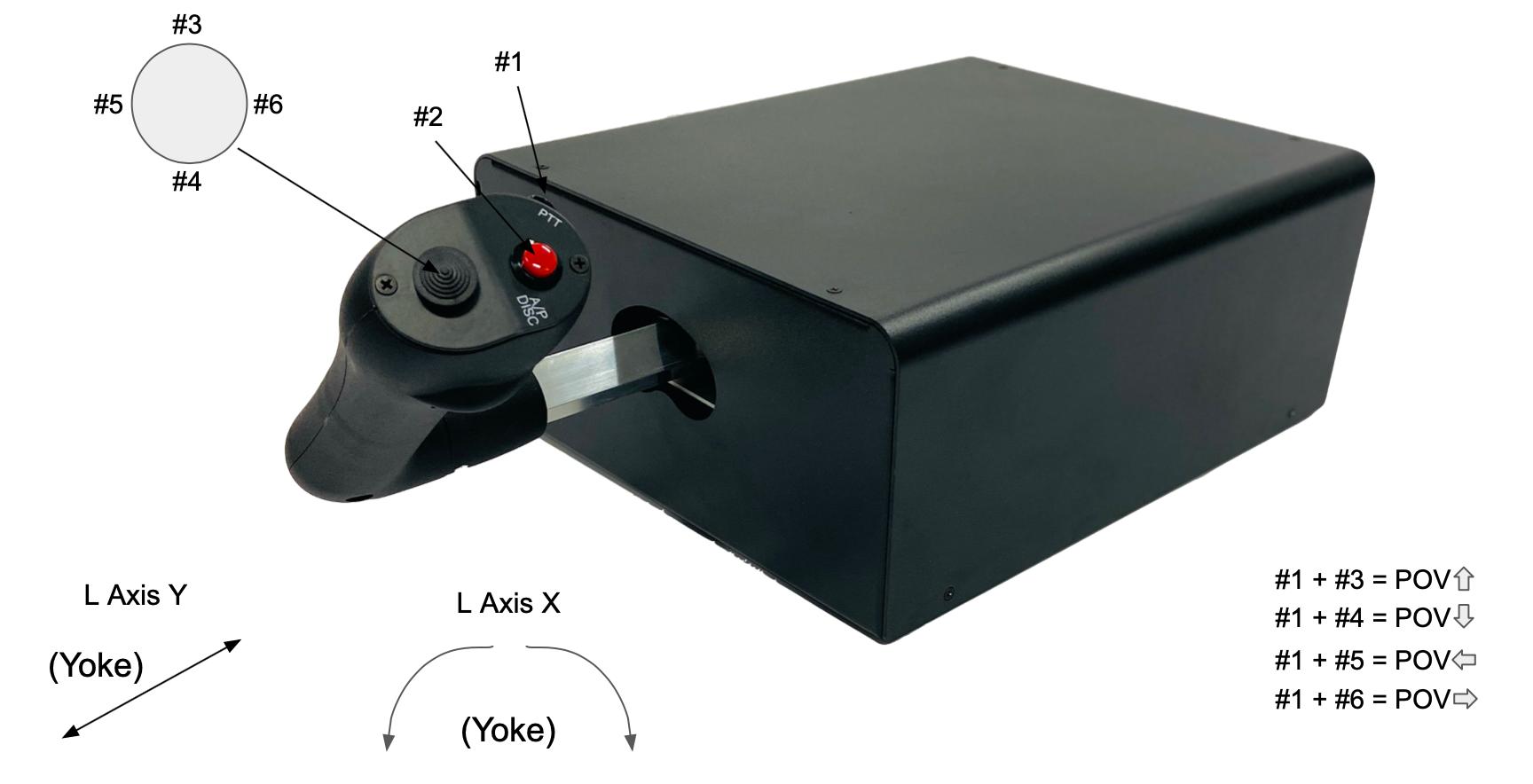 NFS flight simulator yoke for Cirrus