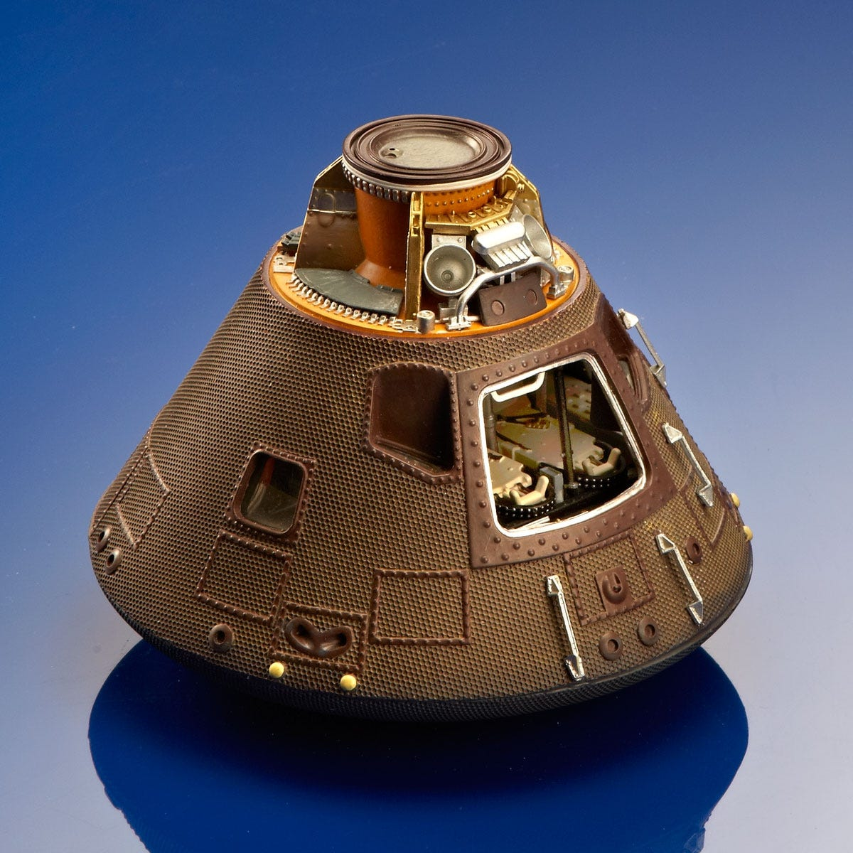 Apollo 11 Capsule Display Model - from Sporty's Wright Bros Collection
