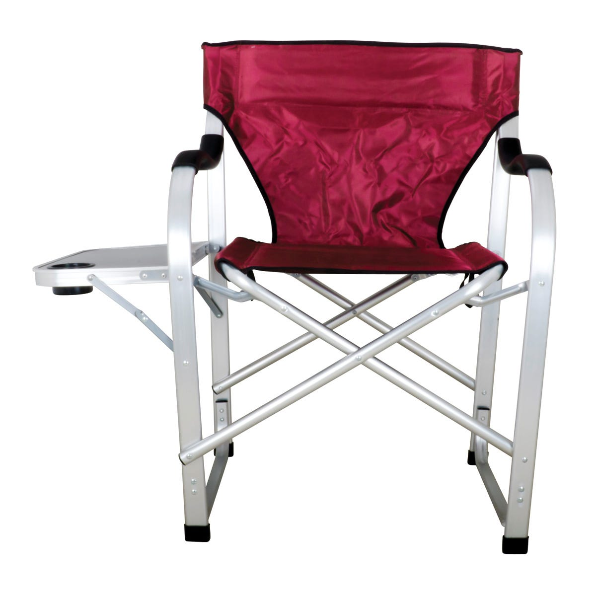 Heavy duty collapsible lawn chair burgundy from for Heavy duty lawn chairs