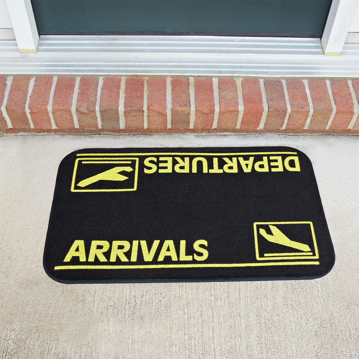 Arrivals and Departures Doormat - from Sporty's Wright Bros Collection