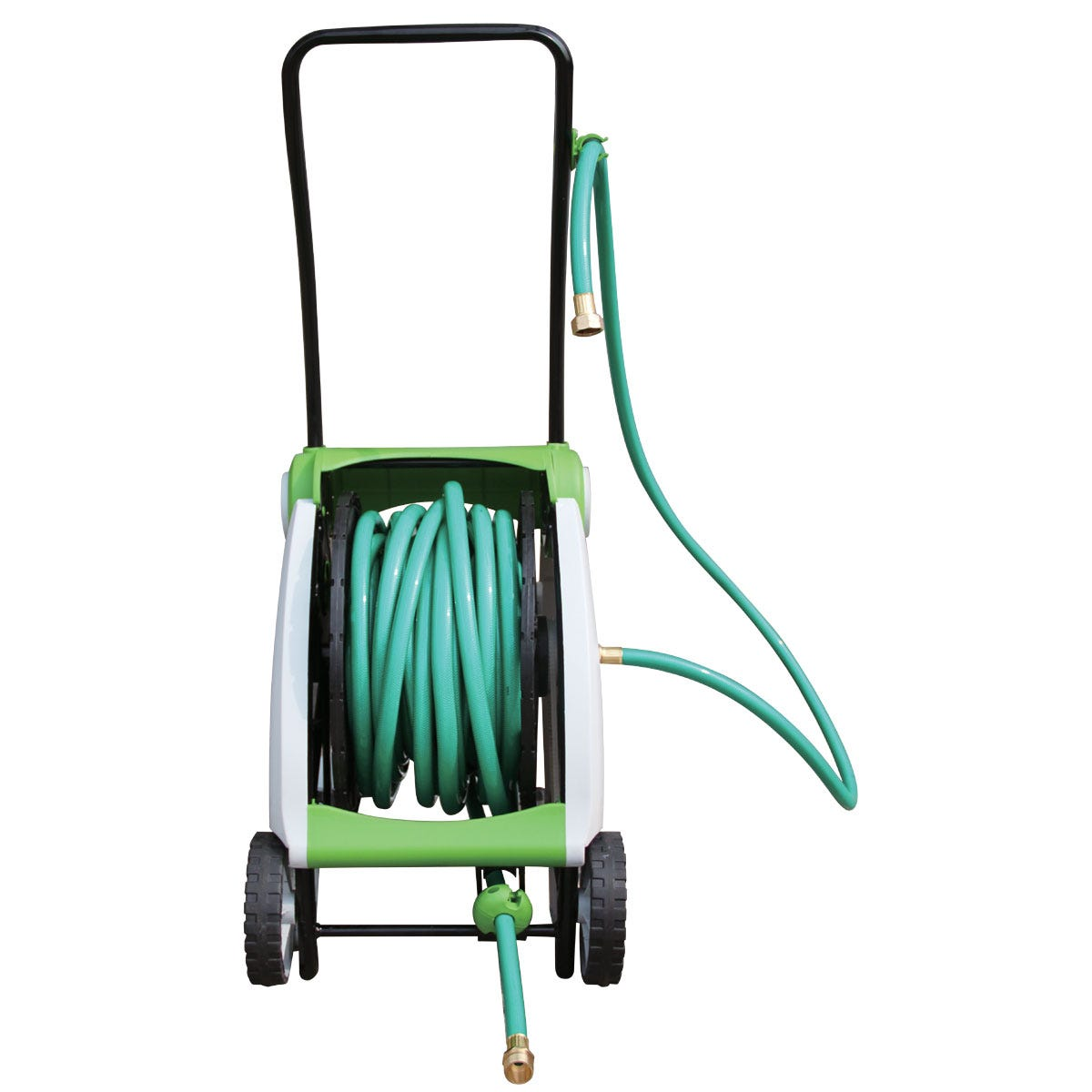 posts to guide hose garden