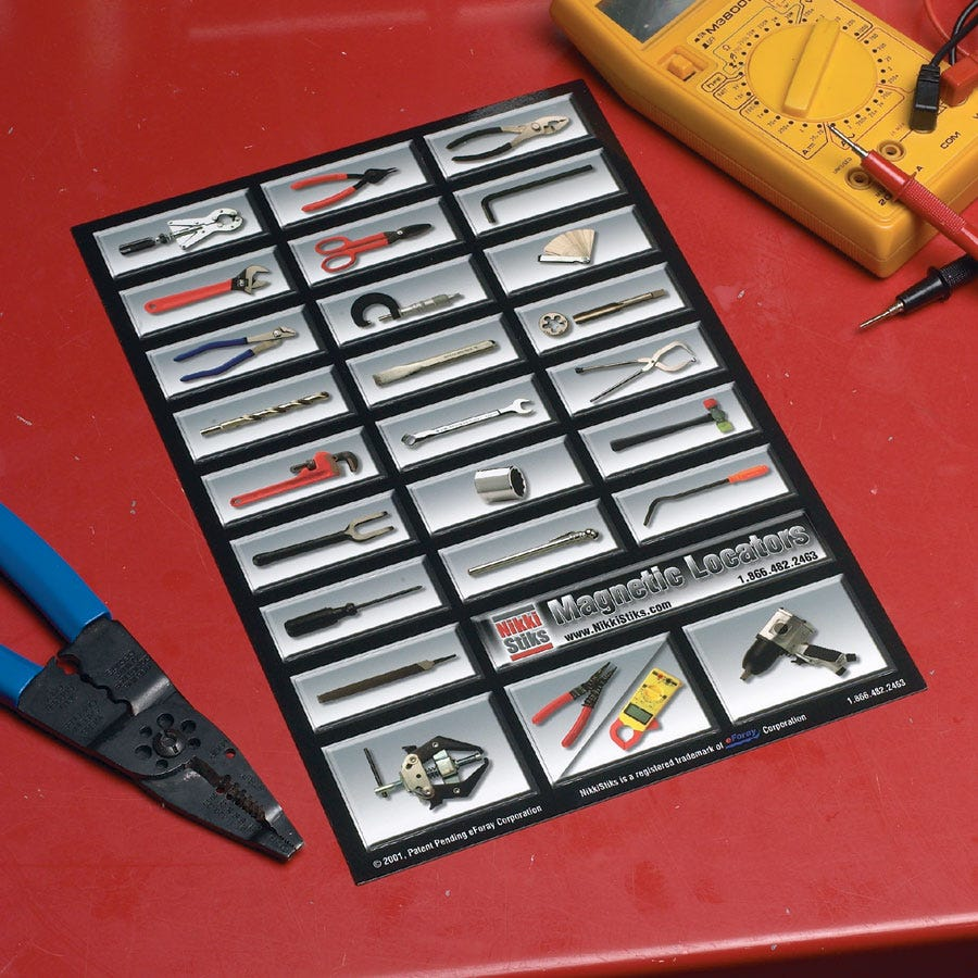 Auto Mechanic S Magnetic Toolbox Labels From Sporty S