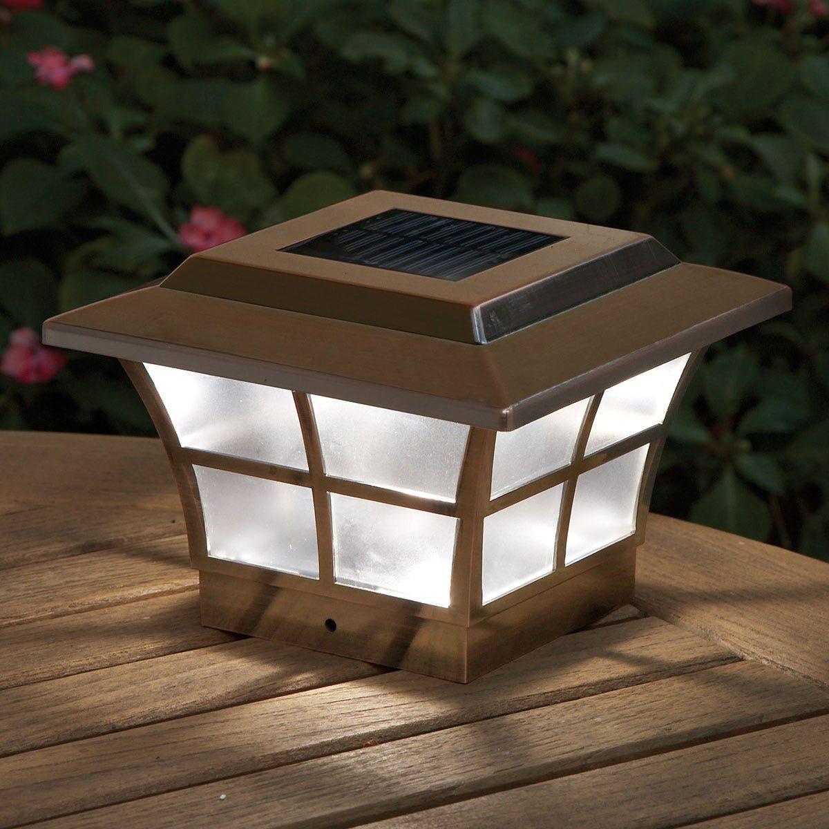 Prestige Solar Lighted Post Caps Copper Solar Powered