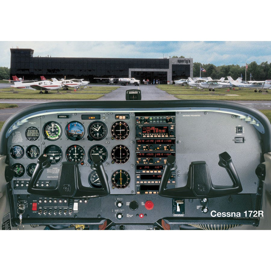 Cessna 172r Cockpit Poster From Sporty S Pilot Shop