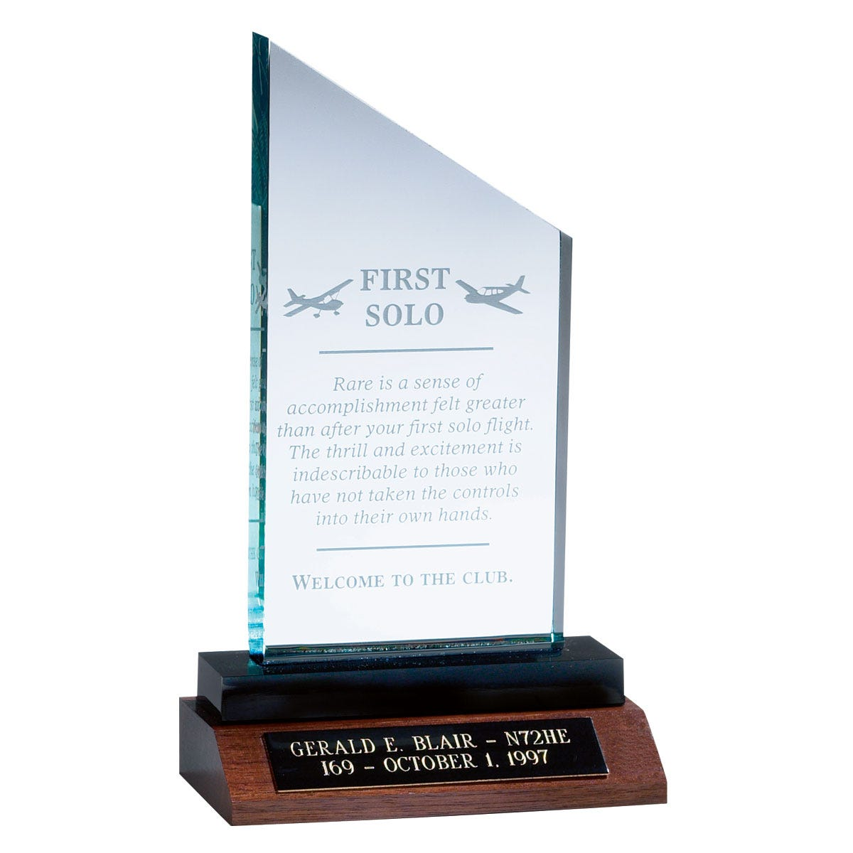 Pilot Solo Recognition Trophy - from Sporty's Pilot Shop