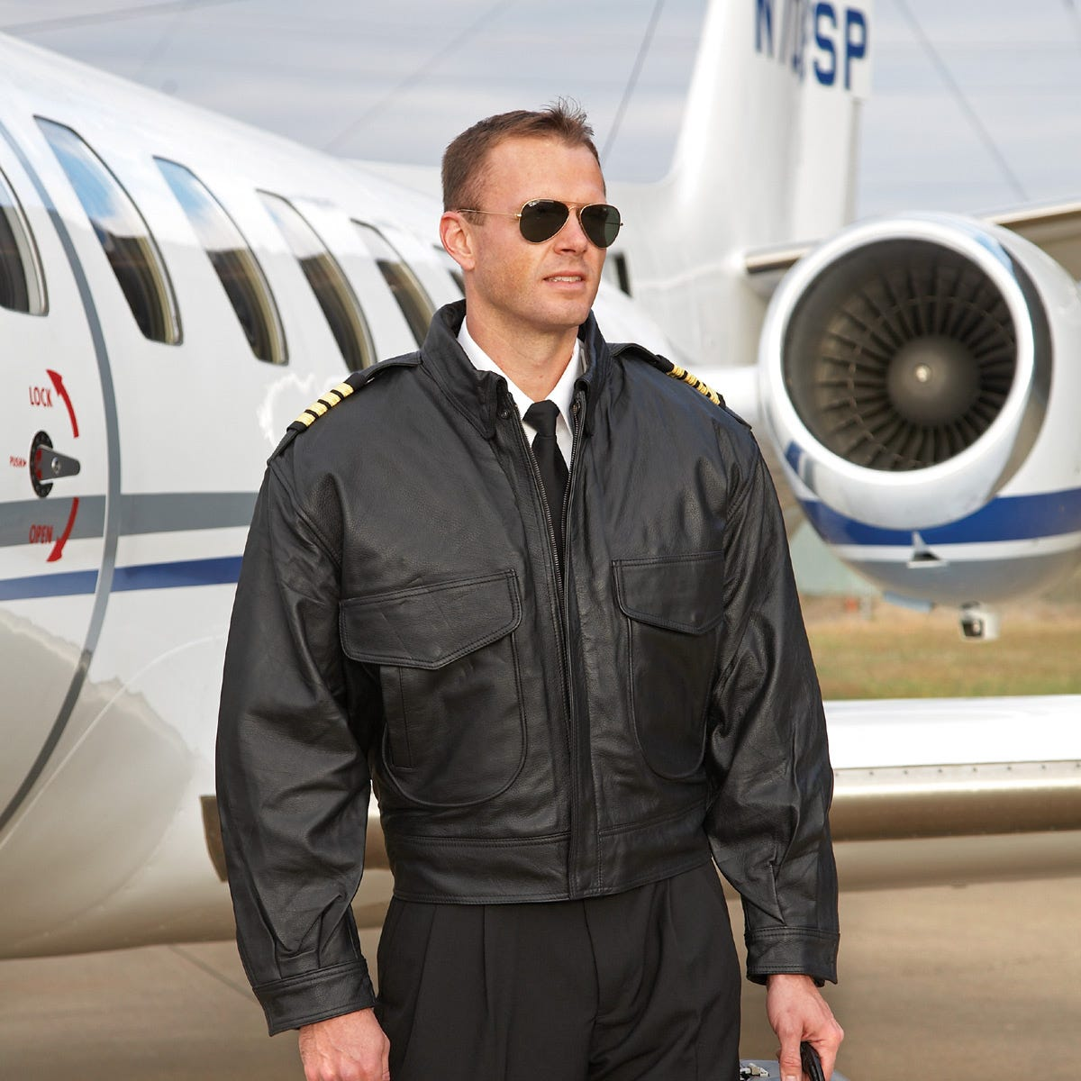Airline Captain's Leather Flight Jacket | Apparel and Sunglasses ...