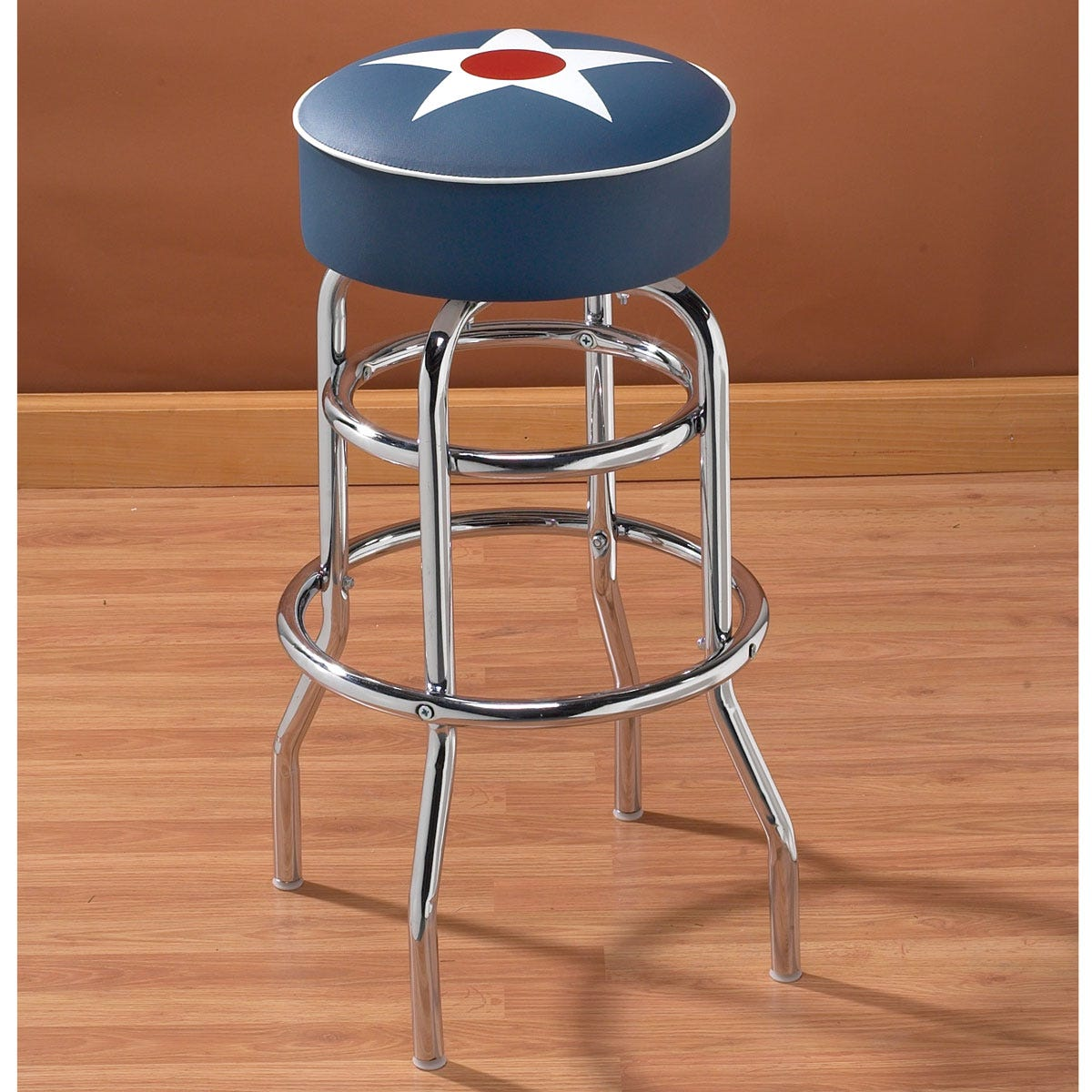 Military Insignia Bar Stool - from Sporty's Wright Bros Collection