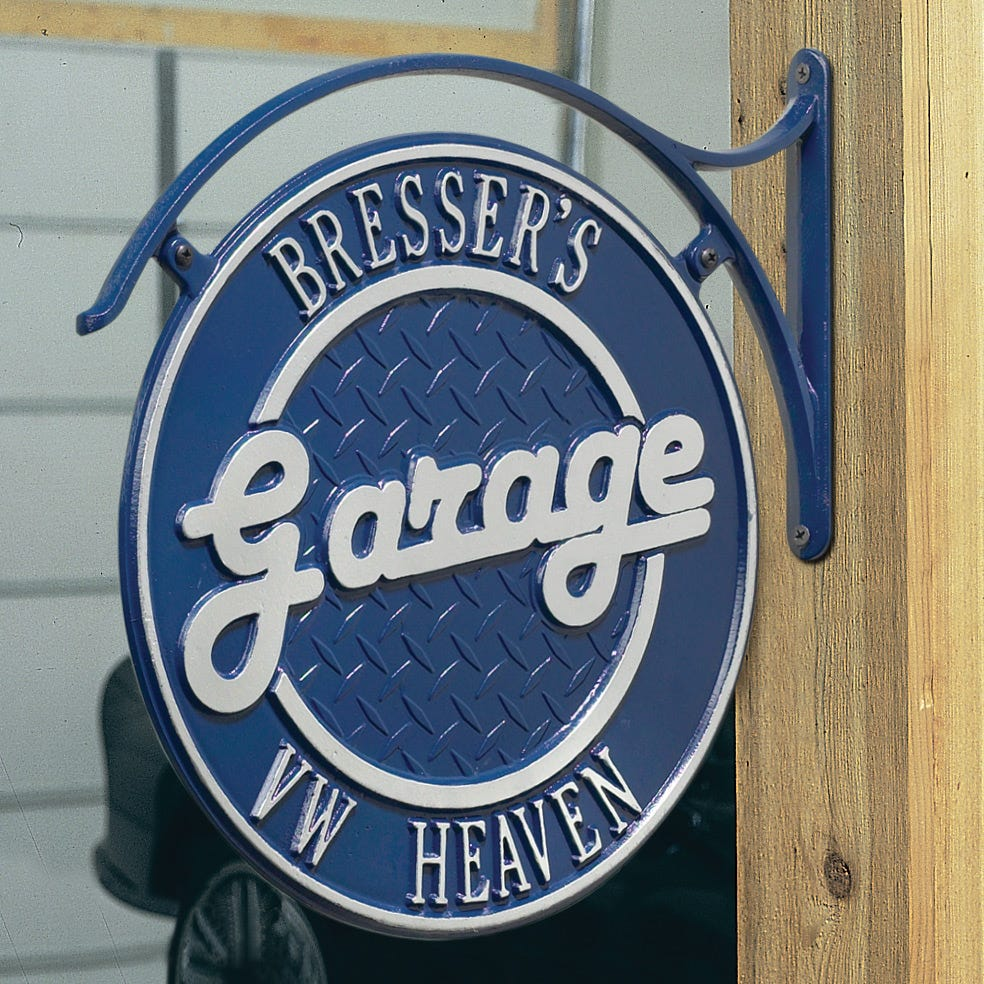 p vintage signs personalized sign large garage