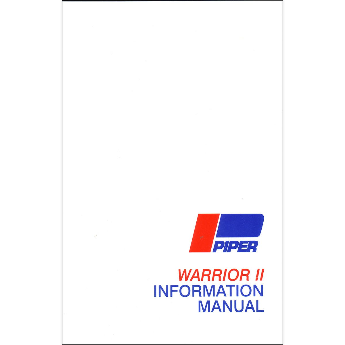 Piper PA28 Warrior I & II Airplane Information Manual - from Sporty's Pilot  Shop