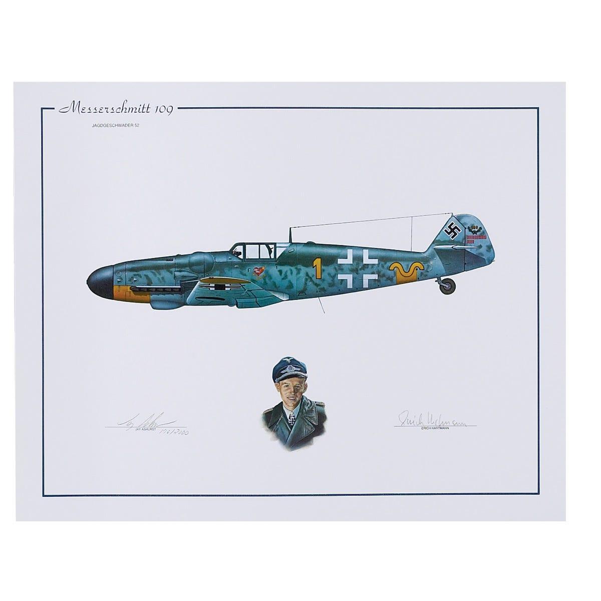 Erich Hartmann Limited Edition Signed Aircraft Print