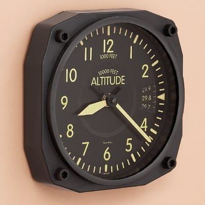 Vintage Instrument Wall Clocks From Sporty S Pilot Shop