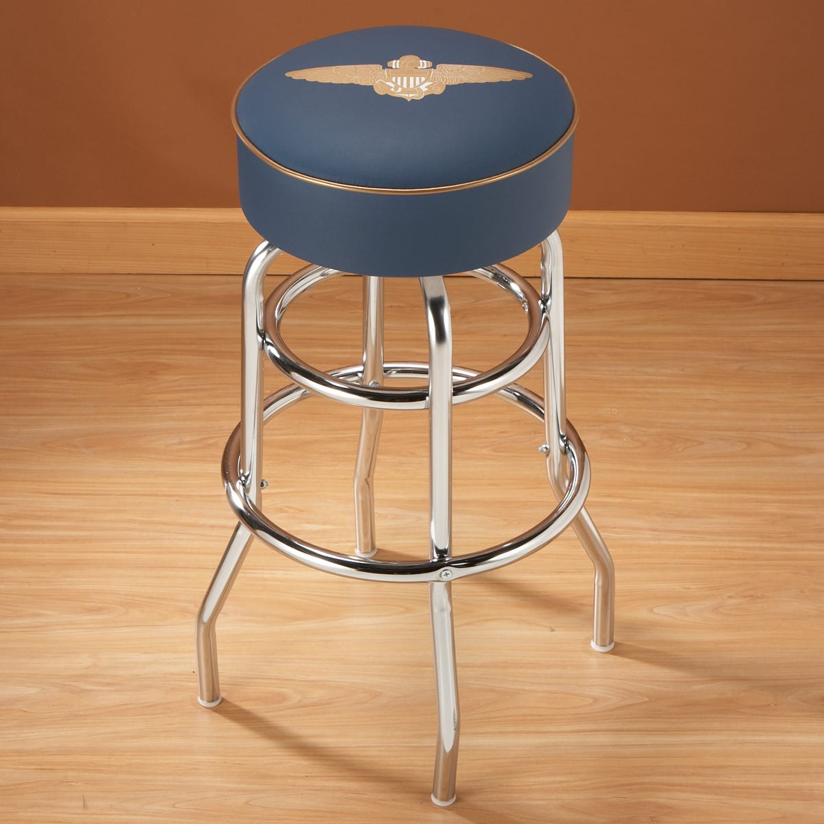 Navy Pilot Wings Bar Stool - from Sporty's Wright Bros Collection