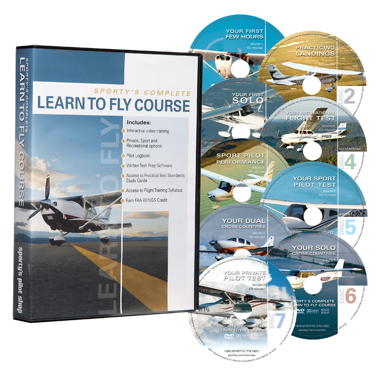 0a1247f7d62 Learn To Fly Course (DVD) - Private Pilot Test Prep - from Sporty s Pilot  Shop