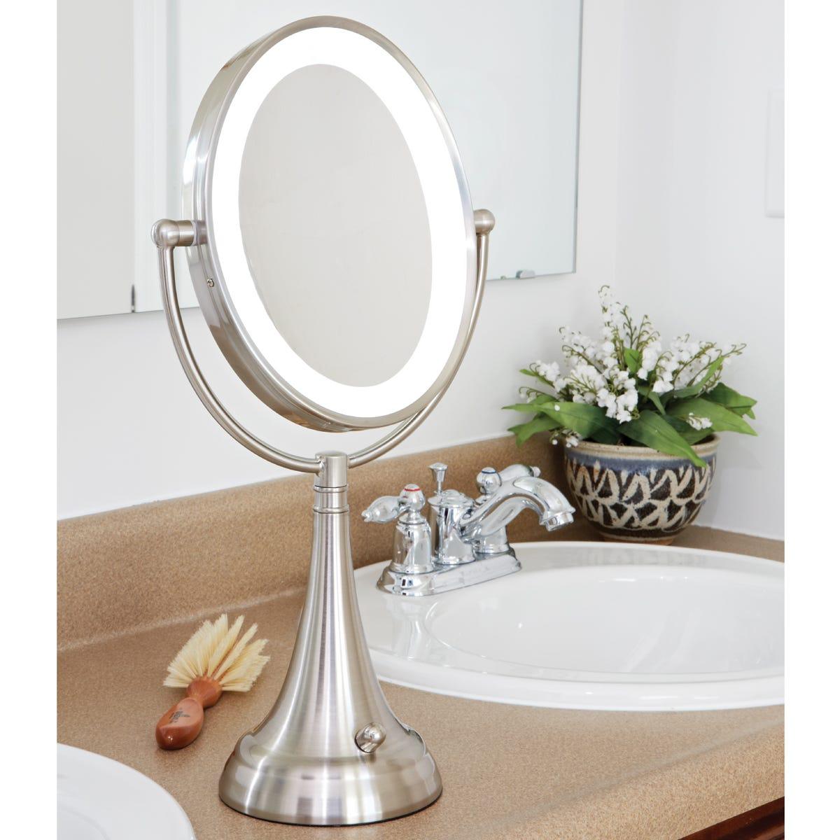 Lighted Vanity Mirror.Cordless Lighted Vanity Mirror